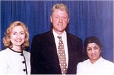 With Bill & Hillary Clinton